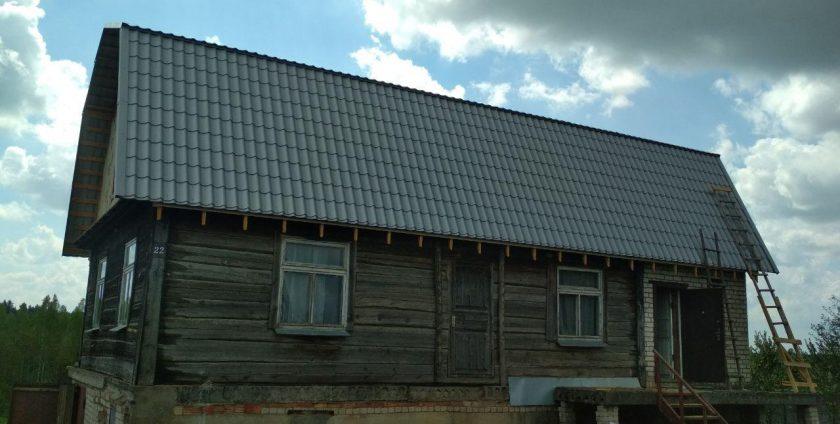 Реконструкция кровли металлочерепица в Жуковке
