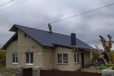 Реконструкция кровли и монтаж металлочерепицы деревня Дещенка