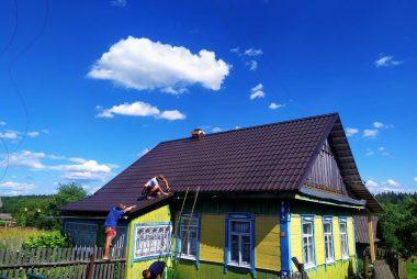 Реконструкция кровли деревня Дрила-2 - монтаж металлочерепицы фото 4