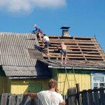 Реконструкция кровли деревня Дрила-2 - демонтаж шифера
