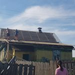 Реконструкция кровли деревня Дрила-2 - выравнивание плоскостей и монтаж обрешётки