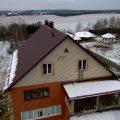Монтаж листовой металлочерепицы в деревне Масловичи фото 11