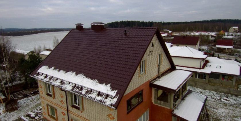 Монтаж листовой металлочерепицы в деревне Масловичи фото 3